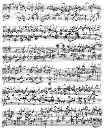 Music Score of Johann Sebastian Bach by German School