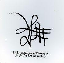 Signature of Edward IV by English School