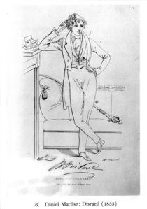 Portrait of Benjamin Disraeli Author of 'Vivian Grey' von Daniel Maclise