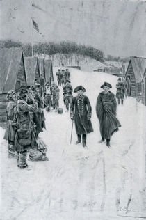 Washington and Steuben at Valley Forge von Howard Pyle
