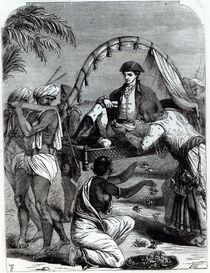 Warren Hastings in India in 1784 by English School