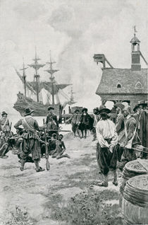 The Landing of Negroes at Jamestown from a Dutch Man-of-War by Howard Pyle