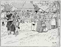 The Arrival of the Young Women at Jamestown by Howard Pyle