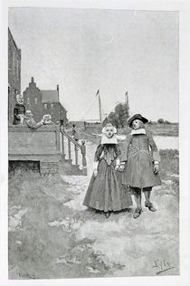 Along the Canal in Old Manhattan by Howard Pyle