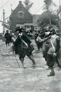 The Arrival of Stuyvesant in New Amsterdam von Howard Pyle