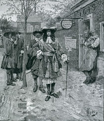 Governor Andros and the Boston People by Howard Pyle