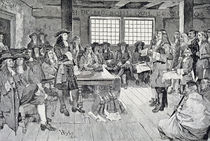 William Penn in Conference with the Colonists by Howard Pyle