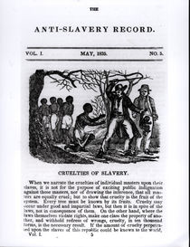 Cruelties of Slavery, page from 'The Anti-Slavery Record' von American School