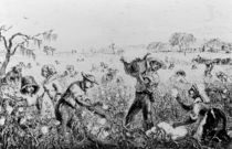 Picking Cotton on a Southern Plantation by American School