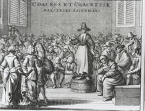 Male and Female Quakers at their Assembly by French School