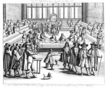 Oliver Cromwell Dissolving The Parliament by English School