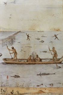 Indians Fishing von John White