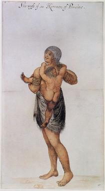 Indian Woman and Baby of Pomeiooc von John White