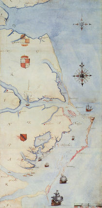 Map of Raleigh's Virginia by John White