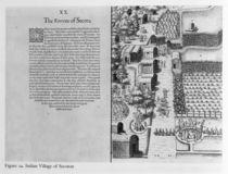 Indian Village of Secoton von John White