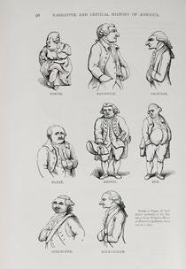 Caricatures from 'The Narrative and Critical History of America' by English School
