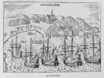 'Acapulco', from Jean-Baptiste Labat 's Nouveau Voyage by French School