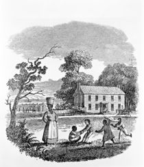 Plantation Scene, 1840's by American School