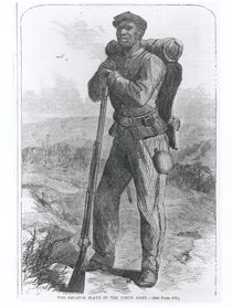 The Escaped Slave in the Union Army by American School