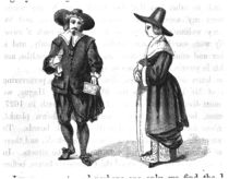 Costume of the Pilgrims, from 'The Pilgrim Fathers' by W. Bartlett by American School
