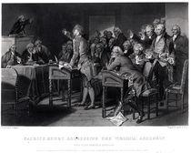 Patrick Henry addressing the Virginia Assembly von Alonzo Chappel