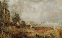 The Opening of Waterloo Bridge von John Constable