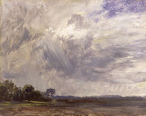 Landscape with Grey Windy Sky von John Constable