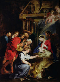 Adoration of the Shepherds von Peter Paul Rubens