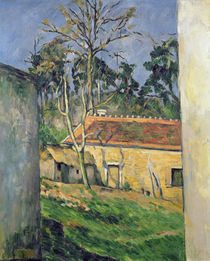 Farmyard at Auvers, c.1879-80 by Paul Cezanne