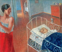 Sleeping Child, 1924 by Kuzma Sergeevich Petrov-Vodkin