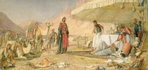 A Frank Encampment in the Desert of Mount Sinai von John Frederick Lewis