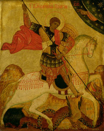 St. George slaying the Dragon von Russian School