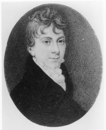 Portrait miniature of Thomas Love Peacock c.1805 by Roger Jean
