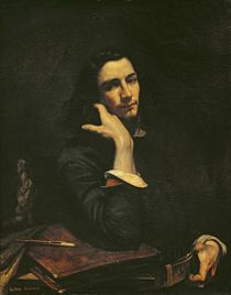 The Man with the Leather Belt. Portrait of the Artist by Gustave Courbet