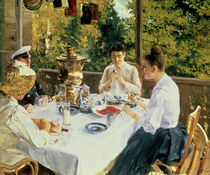 At the Tea-Table, 1888 by Konstantin Alekseevich Korovin