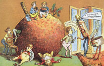 The Christmas Pudding, a Victorian christmas card von English School
