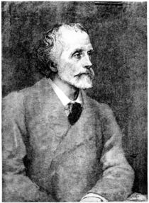 George Meredith, engraved by William Biscombe Gardner after a woodcut by George Frederick Watts