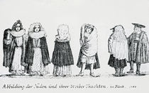 A Depiction of Jewish People and their Dress by German School
