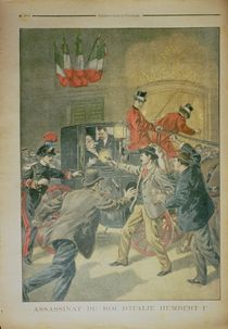 The Assassination of the King of Italy by French School