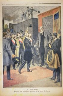 At Paris: the Arrival of President Kruger at the Gare de Lyon von French School