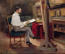 The Artist Morot in his Studio
