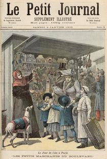 New Year's Day in Paris: The Little Stalls on the Boulevard von Henri Meyer
