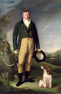 An Unknown Man With his Dog by William Owen