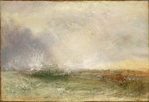 Stormy Sea Breaking on a Shore by Joseph Mallord William Turner