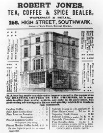 Advertisement for Robert Jones by English School