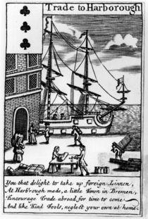 Trade at Harborough, English playing card by English School