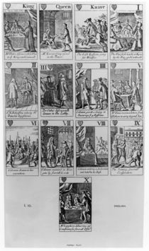 Suit of Hearts illustrating the 'Popish Plot' von English School