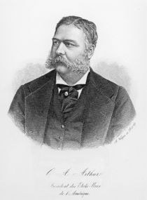 Chester Alan Arthur , engraved by A. Weger by French School