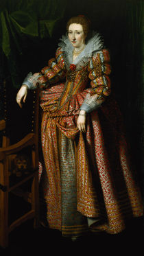 Portrait of a Lady said to be from the Coudenhouve Family of Flanders by Hispano-Flemish School