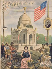 The American pavilion at the Universal Exhibition of 1900 by French School